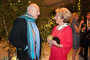 ROLF SACHS; ROSITA SPENCER-CHURCHILL, DUCHESS OF MARLBOROUGH, The Cartier Chelsea Flower show dinner. Hurlingham club, London. 20 May 2013.
