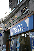 Bank of Ireland Currency exchange shop at College Green in Dublin Ireland