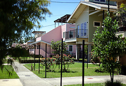 26 August 2015. New Orleans, Louisiana. <br /> Hurricane Katrina revisited. <br /> Rebuilding the Lower 9th Ward. <br /> 'Make it Right' houses on Tennessee Street. Eco friendly 'Make it Right' houses inspired by actor Brad Pitt continue to provide hope for the rebirth of the community following the devastation of hurricane Katrina a decade earlier.<br /> Photo credit©; Charlie Varley/varleypix.com.