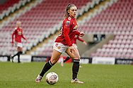 Manchester United Women forward Kirsty Hanson (18) during the FA Women's Super League match between Manchester United Women and BIrmingham City Women at Leigh Sports Village, Leigh, United Kingdom on 24 January 2021.