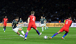 Germany's Mario Gomez fires a shot at goal - Mandatory by-line: Matt McNulty/JMP - 26/03/2016 - FOOTBALL - Olympiastadion - Berlin, Germany - Germany v England - International Friendly