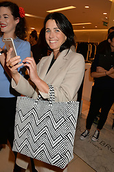 EMILY SHEFFIELD at the launch of the 'Jasmine for Jaeger' fashion collection by Jasmine Guinness for fashion label Jaeger held at Fenwick's, Bond Street, London on 9th September 2015.