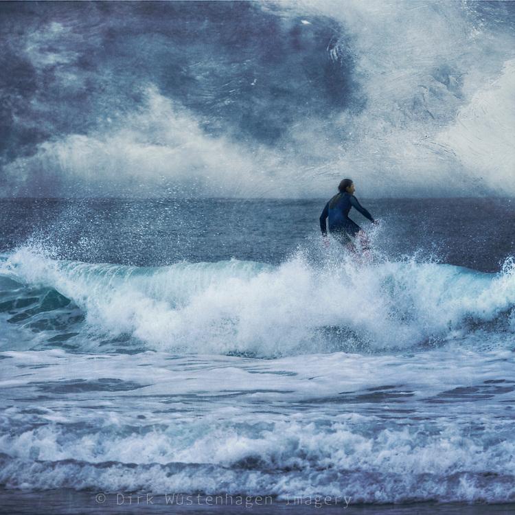surfer riding a wave<br /> Prints: http://society6.com/DirkWuestenhagenImagery/sea-power_Print