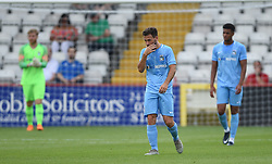 Coventry City's Toni Andreu dejected after his side concede their goal
