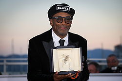 71st Cannes Film Festival Prizes Photocall. US director Spike Lee poses with his trophy on May 19, 2018 during a photocall after he won the Grand Prix for the film BlacKkKlansman at the 71st edition of the Cannes Film Festival. Photo by Shootpix/ABACAPRESS.COM