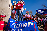 07 NOVEMBER 2020 - DES MOINES, IOWA: There were rival election rallies at the State Capitol in Des Moines Saturday. About 1,000 supporters of President Donald Trump gathered on the steps of the State Capitol and called for an end to vote counting. About 300 supporters of President Elect Joe Biden gathered in People's Plaza, on the south lawn of the Capitol, and called for the vote count to continue until every vote was counted.      PHOTO BY JACK KURTZ
