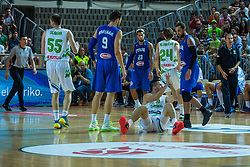 Mitja Nikolic of Slovenia during friendly basketball match between National teams of Slovenia and Italy at day 3 of Adecco Cup 2015, on August 23 in Koper, Slovenia. Photo by Grega Valancic / Sportida