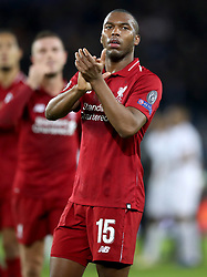 Liverpool's Daniel Sturridge applauds the fans at the end of the match