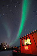 Aurora Borealis, Northern Lights, over the Arctic of Canada