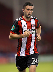 """Sheffield United's Danny Lafferty during the Carabao Cup, Second Round match at Bramall Lane, Sheffield. PRESS ASSOCIATION Photo. Picture date: Tuesday August 22, 2017. See PA story SOCCER Sheff Utd. Photo credit should read: Tim Goode/PA Wire. RESTRICTIONS: EDITORIAL USE ONLY No use with unauthorised audio, video, data, fixture lists, club/league logos or """"live"""" services. Online in-match use limited to 75 images, no video emulation. No use in betting, games or single club/league/player publications."""