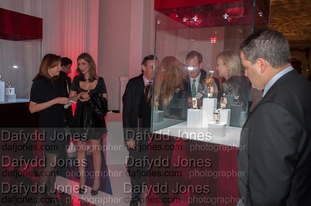 MRS. RAED HANNA; NASHMEEL MAHMOOD, Cartier Tank Anglaise launch. Kensington Palace Orangery, London.  19 April 2012.