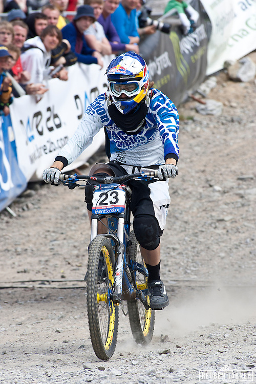 Red Bull Rider Matti Lehikoinen of Team Chain Reaction Cycles competing in the.UCI Mountain Bike World Cup in Fort William, Scotland.
