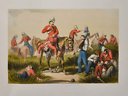 Search for the Wounded Lithograph from the book Campaign in India 1857-58 Illustrating the military operations before Delhi ; 26 Hand coloured Lithographed plates. by George Francklin Atkinson Published by Day & Son Lithographers to the Queen in 1859