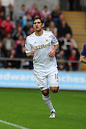 Swansea city's Danny Graham . Pre-season friendly match, Swansea city v Blackpool at the Liberty Stadium in Swansea, South Wales on Tuesday 7th August 2012. pic by Andrew Orchard, Andrew Orchard sports photography,