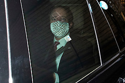 © Licensed to London News Pictures. 16/03/2021. London, UK. Secretary of State for Health and Social Care Matt Hancock arrives in Westminster. Later today the MPs will vote on the Police, Crime, Sentencing and Courts Bill 2021 in the House of Commons.  Photo credit: George Cracknell Wright/LNP