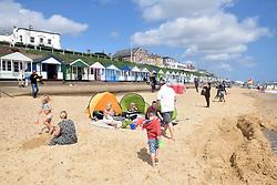 Beach huts, Southwold, Suffolk UK August 2017