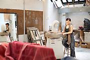 Minako Yoshino, artist. photographed at the Art Students League