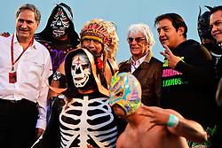 Bernie Ecclestone (GBR) with Mexican wrestlers.<br /> 27.10.2016. Formula 1 World Championship, Rd 19, Mexican Grand Prix, Mexico City, Mexico, Preparation Day.<br />  <br /> / 271016 / action press
