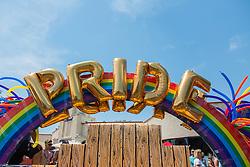 Gay pride float