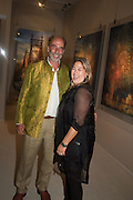 ALEXANDER CRESSWELL; ELIZABETH FELD, The Neo Romantic Art Gala in aid of the NSPCC. Masterpiece. Chelsea. London.  30 June 2015