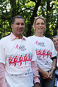 13 September 2009- NY, NY l to r: Governor David Patterson, and Uma Thurman at The Annual Komen New York City Race for the Cure held at West 77th Street and Central Park West on September 13, 2009 in New York City.  Photo credit: Terrence Jennings/Sipa Press