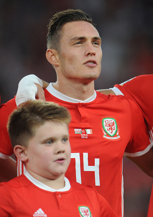 Wales' Connor Roberts<br /> <br /> Photographer Kevin Barnes/CameraSport<br /> <br /> UEFA Nations League - Group Stage - League B - Group 4 - Wales v Republic of Ireland - Thursday September 6th 2018 - Cardiff City Stadium - Cardiff<br /> <br /> World Copyright © 2018 CameraSport. All rights reserved. 43 Linden Ave. Countesthorpe. Leicester. England. LE8 5PG - Tel: +44 (0) 116 277 4147 - admin@camerasport.com - www.camerasport.com