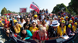 March 17, 2019 - Albert Park, VIC, U.S. - ALBERT PARK, VIC - MARCH 17: Fans on the Melbourne Walk  at The Australian Formula One Grand Prix on March 17, 2019, at The Melbourne Grand Prix Circuit in Albert Park, Australia. (Photo by Speed Media/Icon Sportswire) (Credit Image: © Steven Markham/Icon SMI via ZUMA Press)