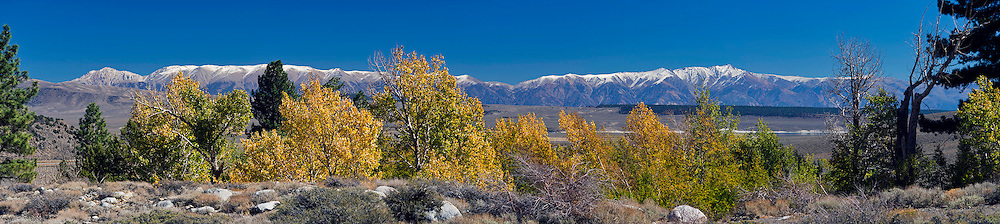 White Mountains Panorama in the fall.