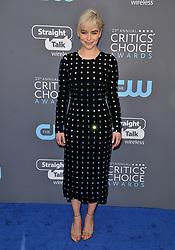 Emilia Clarke at The 23rd Annual Critics' Choice Awards held at the Barker Hangar on January 11, 2018 in Santa Monica, CA, USA (Photo by Sthanlee B. Mirador/Sipa USA)