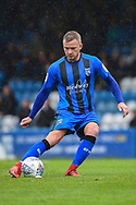 Gillingham FC midfielder Dean Parrett (8) takes a free kick during the EFL Sky Bet League 1 match between Gillingham and Peterborough United at the MEMS Priestfield Stadium, Gillingham, England on 22 September 2018. Picture by Martin Cole