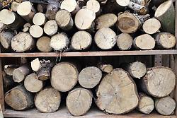 Log pile seasoning