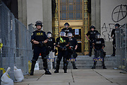 Nashville Police guard the Courthouse before a Teens For Peace march on June 4 2020