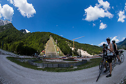 Riders watching Reconstruction of ski jumping hills in Planica on July 25, 2013 in Planica, Slovenia. (Photo by Vid Ponikvar / Sportida.com)