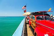 Classic Woodies Car Exhibit On The San Clemente Pier