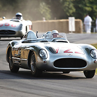 #722 Mercedes-Benz 300 SLR, driven by Sir Stirling Moss, Goodwood Festival of Speed 2015