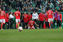 February 3, 2019 - Lisbon, PORTUGAL, Portugal - Haris Seferovic of SL Benfica seen celebrating with teammates after scoring during the League NOS 2018/19 footballl match between Sporting CP vs SL Benfica. (Credit Image: © David Martins/SOPA Images via ZUMA Wire)