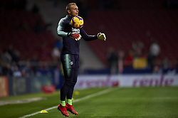 November 24, 2018 - Madrid, Madrid, Spain - Jasper Cillessen of Barcelona during the warm-up before the week 13 of La Liga match between Atletico Madrid and FC Barcelona at Wanda Metropolitano Stadium in Valencia, Spain on November 24, 2018. (Credit Image: © Jose Breton/NurPhoto via ZUMA Press)
