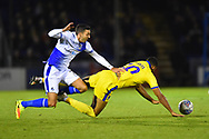 Jake Jervis (10) of AFC Wimbledon is fouled by Liam Sercombe (7) of Bristol Rovers during the EFL Sky Bet League 1 match between Bristol Rovers and AFC Wimbledon at the Memorial Stadium, Bristol, England on 23 October 2018.
