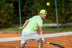 Klemen Kadivnik during Tennis tournament of Slovenian Recreational players, on August 16, 2020 in SC Marina, Portoroz / Portorose, Slovenia. Photo by Vid Ponikvar / Sportida