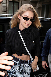 Gigi Hadid is leaving Tod's show room after a fitting during Milan Fashion Week Spring/Summer 2019 on September 20, 2018 in Milan, Italy. Photo by Marco Piovanotto/ABACAPRESS.COM
