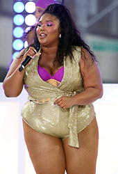 Lizzo performing live in concert on NBC's TODAY Show, at Rockefeller Plaza in New York