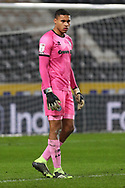 Gavin Bazunu during the EFL Sky Bet League 1 match between Hull City and Rochdale at the KCOM Stadium, Kingston upon Hull, England on 2 March 2021.