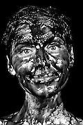 Molasses, blueberry jam, chocolate syrup, happy portrait - One Woman Show