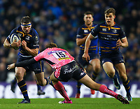 Rugby Union - 2017 / 2018 European Rugby Champions Cup - Pool Three: Leinster vs. Exeter Chiefs<br /> <br /> Leinster's Fergus McFadden in action against Exeter's Lachlan Turner, at Aviva Stadium, Dublin.<br /> <br /> COLORSPORT/KEN SUTTON