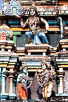 gopuram of Vishnu Temple of Cochin in Kerala state india