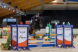Veldhuis Steven, NED, Lingo van de Watermolen<br /> KWPN Hengstenkeuring 2021<br /> © Hippo Foto - Dirk Caremans<br />  06/02/2021