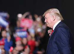 October 27, 2016 - Toledo, Ohio, United States - Donald Trump greets supporters as he approaches the stage during a campaign rally at SeaGate Center in Toledo, Ohio, United States on October 27, 2016. (Credit Image: © Emily Molli/NurPhoto via ZUMA Press)
