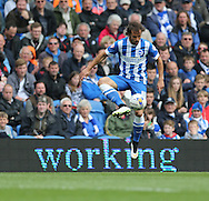 Inigo Calderon during the Sky Bet Championship match between Brighton and Hove Albion and Watford at the American Express Community Stadium, Brighton and Hove, England on 25 April 2015.