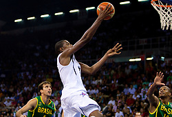 Kevin Durant  of USA during the Preliminary Round - Group B basketball match between National teams of USA and Brasil at 2010 FIBA World Championships on August 30, 2010 at Abdi Ipekci Arena in Istanbul, Turkey. (Photo By Vid Ponikvar / Sportida.com)