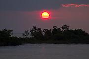 Sunset at Rio Negro, Amazon, Brasil.